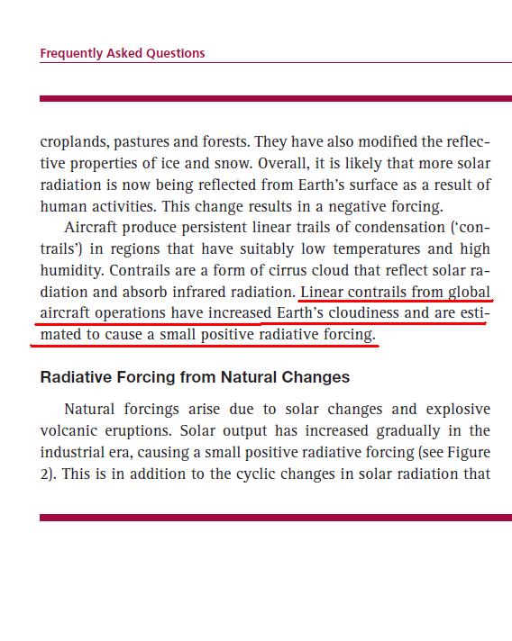 Κυβερνητικές δημοσιεύσεις: Τα ίχνη τών αεροσκαφών προκαλούν παγκόσμιες κλιματικές αλλαγές!!!